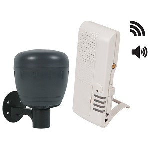 Wireless Driveway Monitor - Battery w/4-Channel Voice Receiver