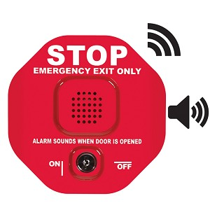 STI-6400WIR, Wireless Exit Stopper Multifunction Door Alarm, Red