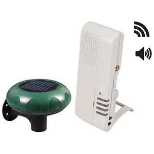 Wireless Driveway Monitor - Solar w/4-Channel Voice Receiver